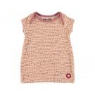 Perzikkleurig kleedje met roestkleurige stippen - dress coral pink/ red