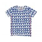 T-shirt met blauwe golven - t-shirt waves cobalt