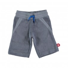 Grijze terry short - grey blue