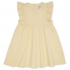 Geel geruit kleedje - Acacia emily dress yellow check