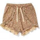 Shortje met bloemetjes - Reya frill shorts rosaraie red