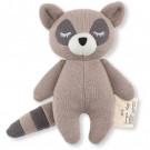 Grijsbruin  knuffelrammelaartje wasbeer - Mini racoon brown