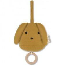 Mosterdgeel konijn muziektrekker - music mobil mustard rabbit