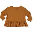 Mosterdgele shirt met ruffle - Ebi frill