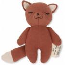 Roestbruin knuffelrammelaartje vosje - Mini fox toffee
