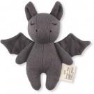 Grijs knuffelrammelaartje - mini bat grey