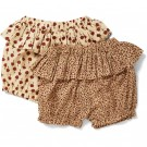 Set van 2 shortjes - Varda Rosaraie/Poppy flower bloomers