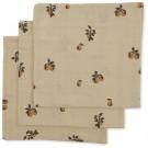 Set van 3 tetradoeken - 3 pack muslin cloth poire