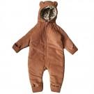 Cognackleurige onesie - Teddy suit deux cognac/orangerie  (stapelkorting)