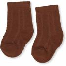 Karamelbruine kousen met fijne structuur  - Fuma sock pointelle deux caramel