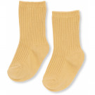 Lichtgele geribbelde kousen - Hisao sock rib deux sunspell