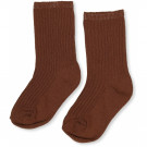 Karamelbruin geribbelde kousen - Hisao sock rib deux caramel