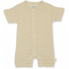 Geel gestreept zomers kruippakje - Dio onesie short sleeve sunspell stribes