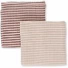 Set van 2 gestreepte tetradoeken terracotta/ roze - muslin striped (Geboortelijst ...)