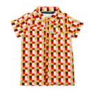 Hemdje met kleurrijke blokjesprint - Jeff shirt aop blocks  - maat 68 (Geboortelijst Axel B.)