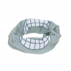 Multifunctionele sjaal grijs - Flexi-loop kids smile grey