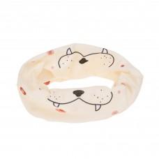 Multifunctionele sjaal lichtroze - Flexi-loop kids leopard rose