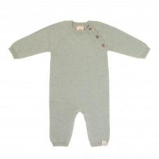 Grijsgroen gebreide jumpsuit - Knitted overall garden explorer aqua grey