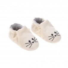 Beige babysloefjes met kattensnoetje - Baby shoes little chums cat