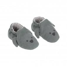 Donkergroene babysloefjes met hondensnoetje - Baby shoes little chums dog
