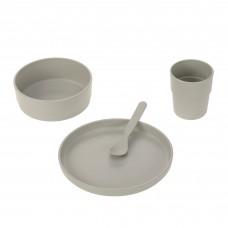 Grijs eetsetje - Dish set uni warm grey