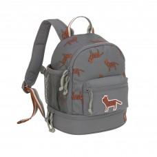 Donkergrijze kleuterrugzak met tijgers - Mini backpack safari tiger