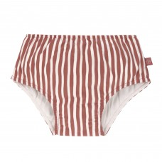 Bruinroos gestreepte zwemluier - Swim diaper girls stripes red