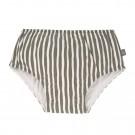 Olijfgroen gestreepte zwemluier - Swim diaper boys stripes olive