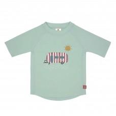 Muntgroene UV shirt met caravan- Short sleeve rashguard caravan mint
