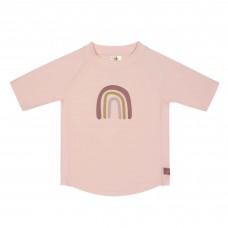 Oudroze UV shirt met regenboog - Short sleeve rashguard rainbow rose