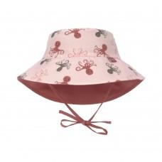 Omkeerbaar UV zonnehoedje met octopussen - Sun protection bucket hat octopus rose