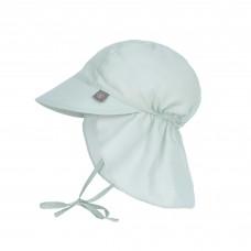 UV zonnehoedje muntgroen - Sun protection flap hat mint