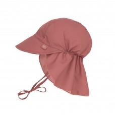 UV zonnehoedje bruinroos - Sun protection flap hat rosewood