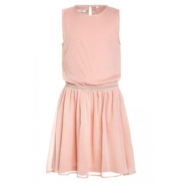 b2ec83540955b8 Lemon Beret - Oud roze tule kleed met gouden stipjes