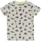 Grijze t-shirt met dino's - gray melange dino