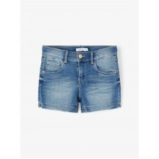 Jeansshort - Nkfsalli dnmtindy shorts camp light blue denim