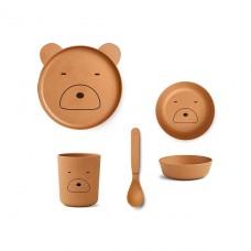 Schattig mosterdkleurig bamboesetje mr. Bear -