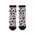 Ecru kniekousjes met luipaardprint  - Sofiea knee socks leo beige beauty
