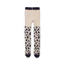 Ecru kousenbroek met luipaardprint - Silje solid leo beige beauty