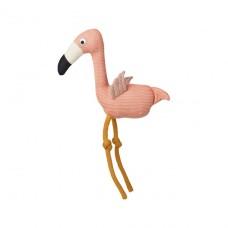 Gebreide knuffelflamingo- Dextor knit teddy flamingo coral rose