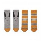 Kniekousjes 2-pack - Sofia rabbit/stripe mustard