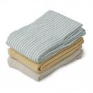 Set van 3 tetradoeken (hydrofiel) - Line muslin cloth 3-pack sea blue stripe mix