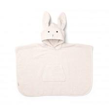 Lichtroze badponcho met konijn - Orla poncho rabbit sweet rose