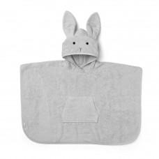 Lichtgrijze badponcho met konijn - Orla poncho rabbit  dumbo grey