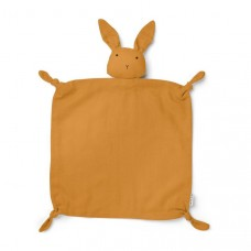 Mosterdkleurig knuffeldoekje konijn - Agnete cuddle cloth rabbit mustard