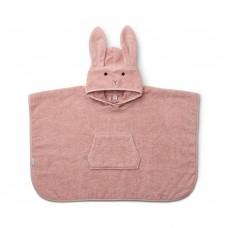 Oudoze badponcho met konijn - Orla poncho rabbit rose