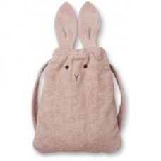 Handdoek - rugzak konijn : thor rabbit rose (Geboortelijst Nore D.)