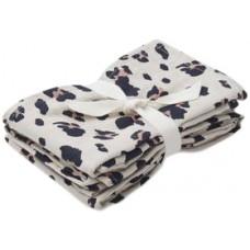 Set van 2  tetradoeken met luipaardmotief (hydrofiel) - Hannah muslin cloth 2 pack leo