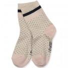 Gestipte sokjes - silas lurex socks dot - maat 17/18 - 0/6m (Geboortelijst Odette J.)