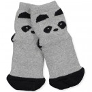 Grijze antislip sokjes panda- Nellie anti slip panda grey melange